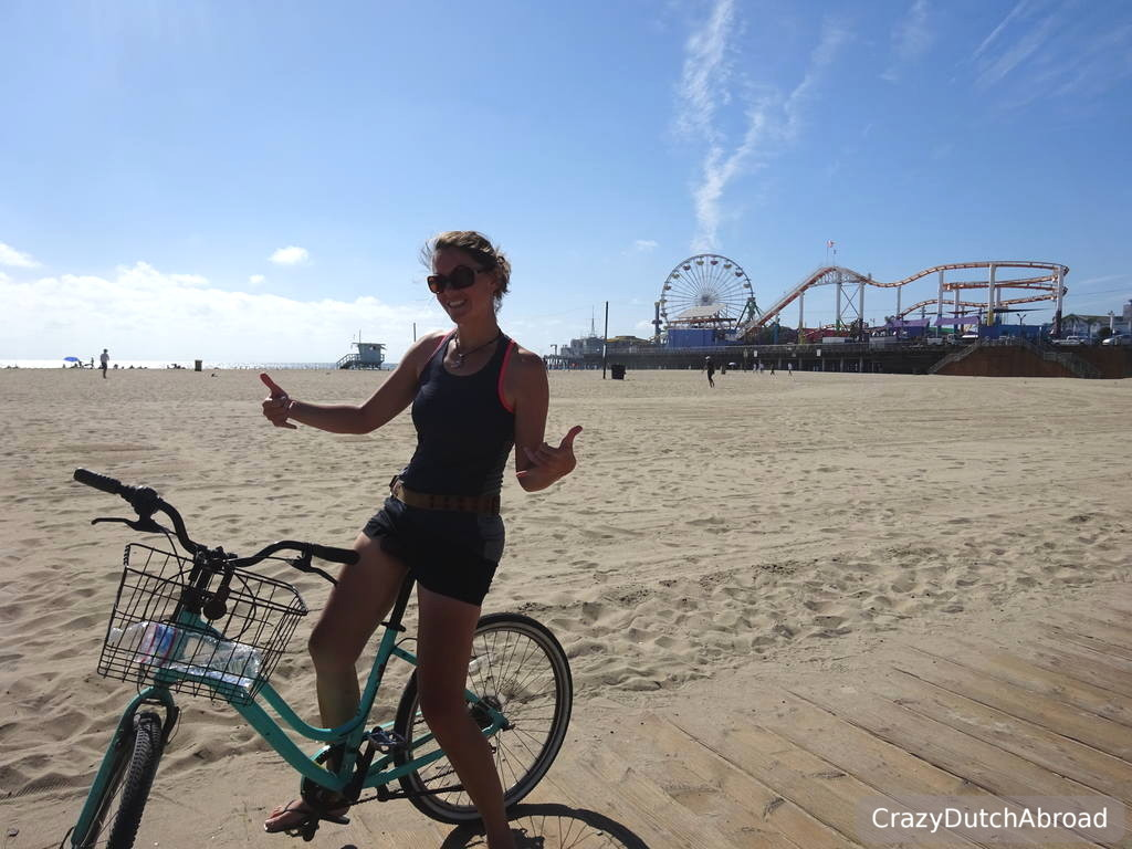 Right In Front Of The Santa Monica Pier You Can Bicycles By Hour Pay When Return For Hours Have Used It Easy